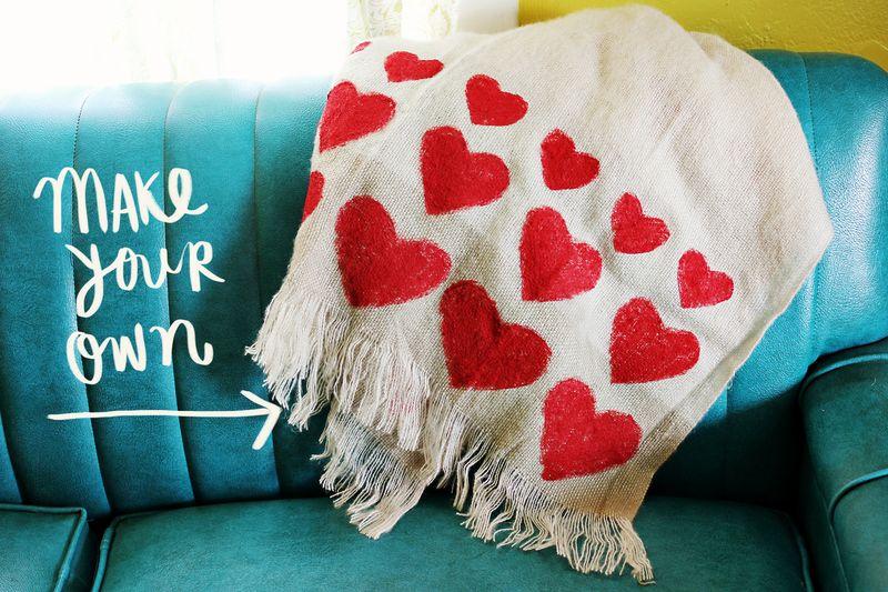 coperta a cuori larson champan idee regalo handmade san valentino