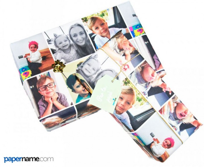 personalized gift wrap on line with images papername
