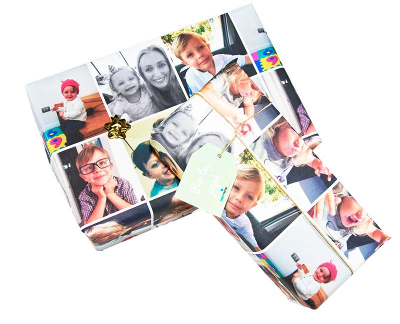ejemplo papel de regalo personalizado con fotos papername