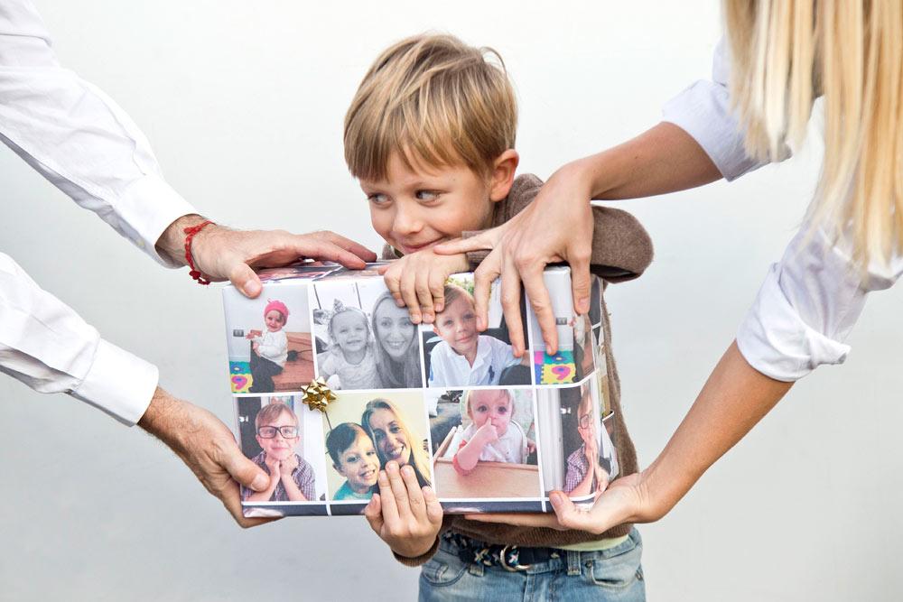 carta da regalo personalizzata con foto immagini online papername