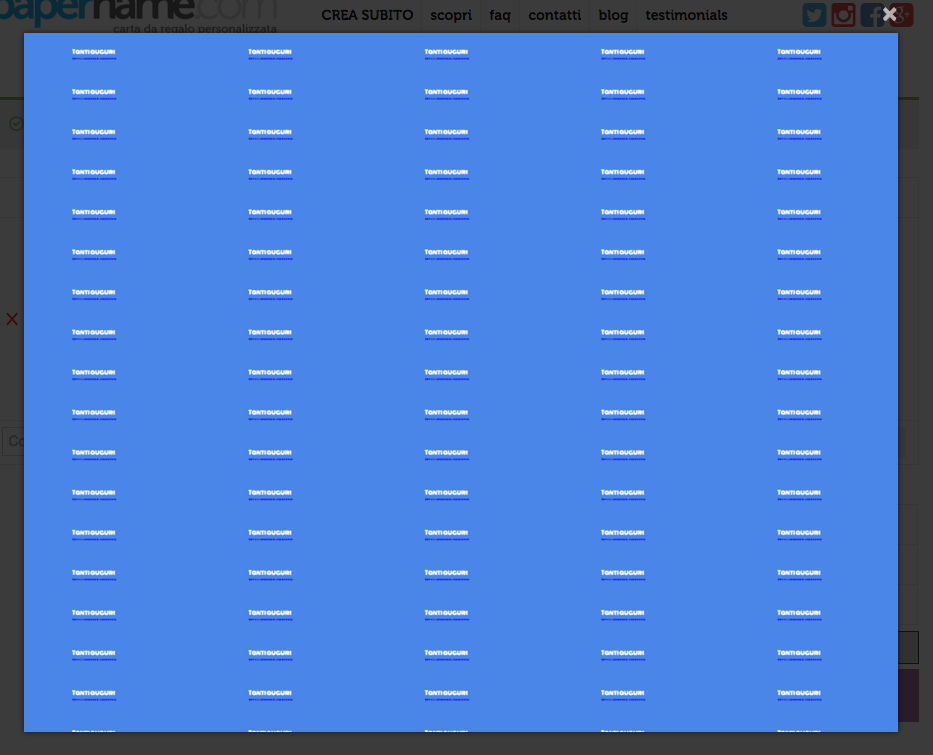 visualizzazione a schermo carta da regalo personalizzata on line papername frasi auguri