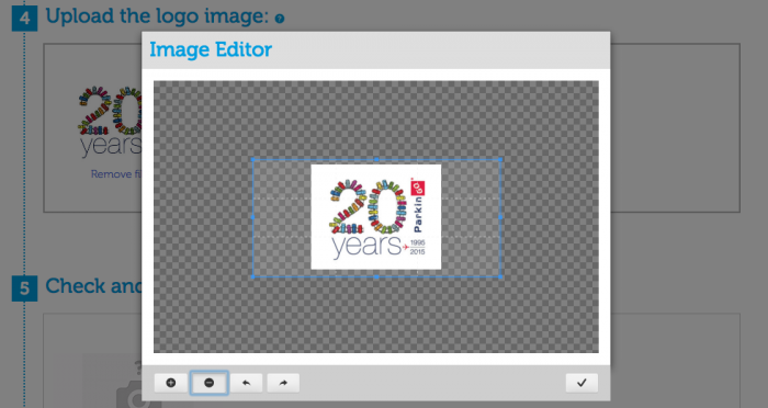 image editor papername text and logo